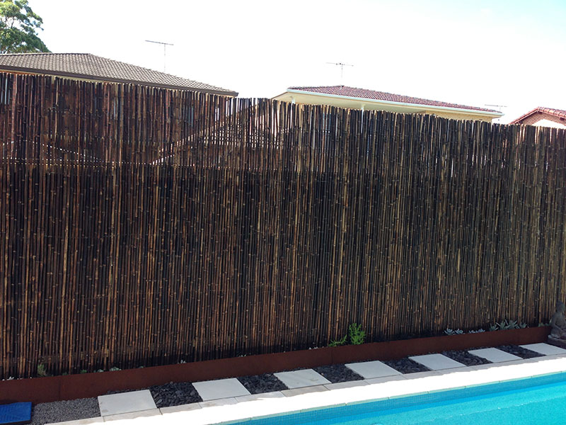 Privacy screen photos life outdoors decking st george Bamboo screens for outdoors