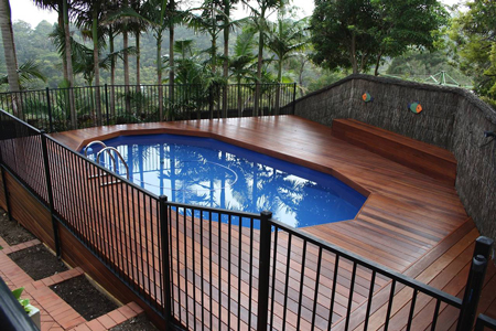 above ground pool with deck surround. Yarrawarrah Northern Box Decking Above Ground Pool With Deck Surround L